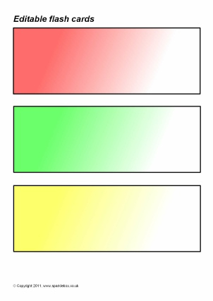 Editable Primary Classroom Flash Cards - SparkleBox Throughout Word Cue Card Template