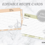 Editable Recipe Cards Intended For Fillable Recipe Card Template