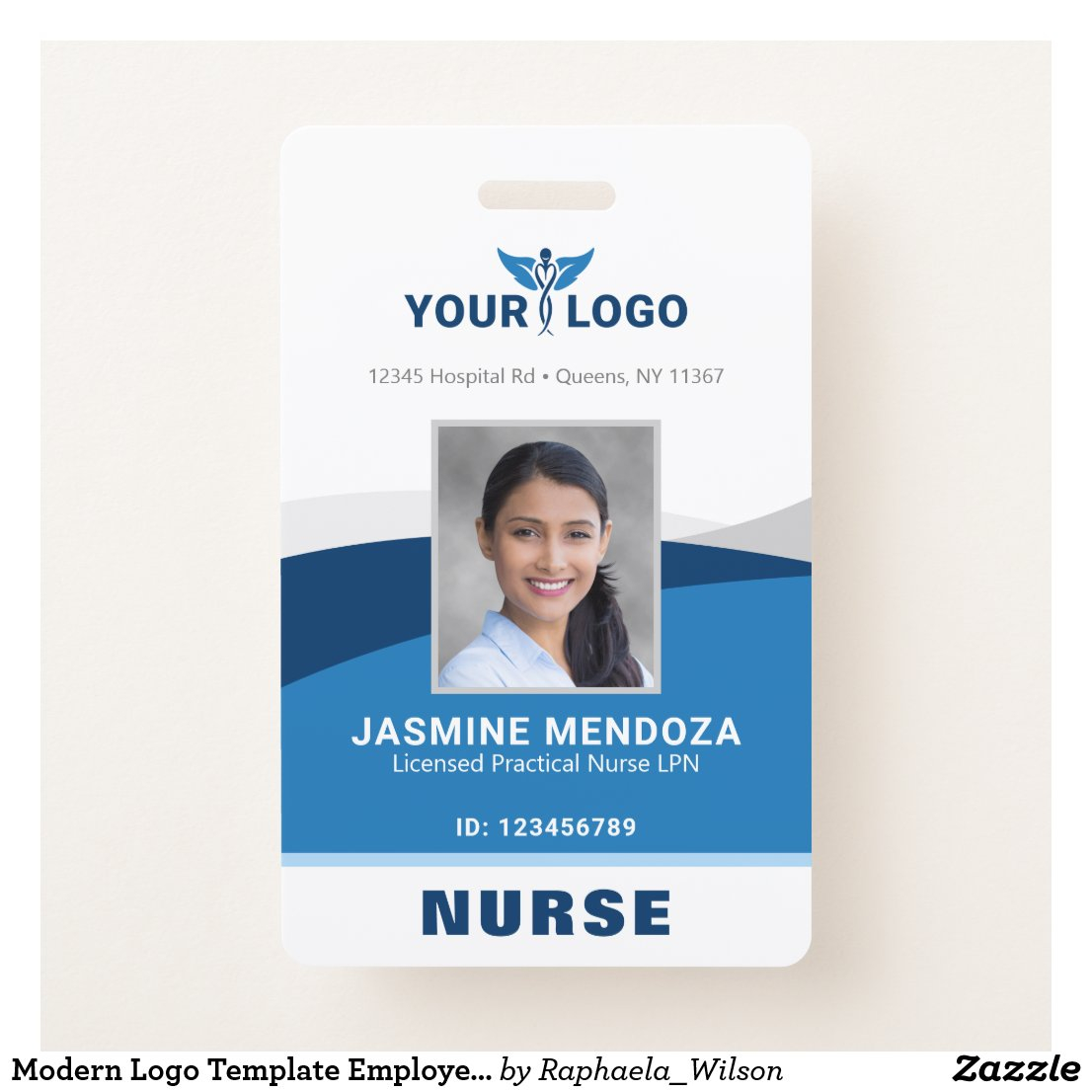 Employee Badges Template Custom Photo ID Cards For Hospital Id Card Template With Hospital Id Card Template