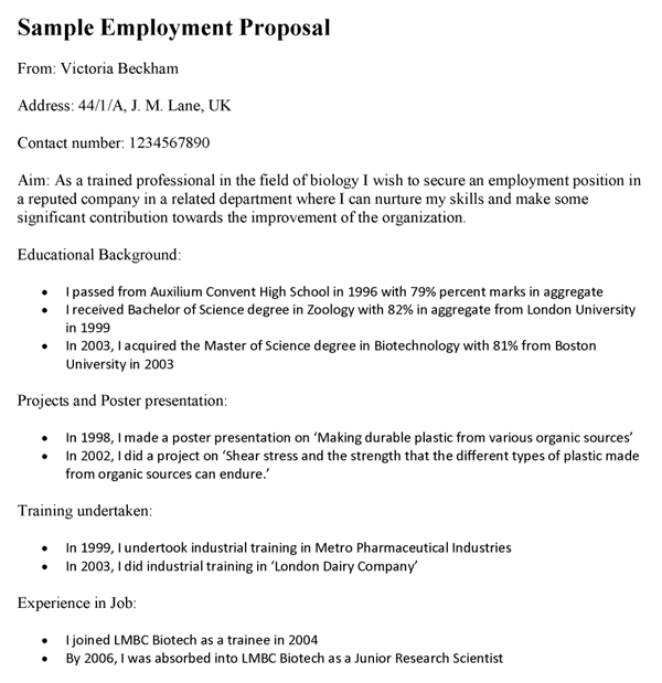 Employment Proposal Template In New Position Proposal Template Intended For New Position Proposal Template