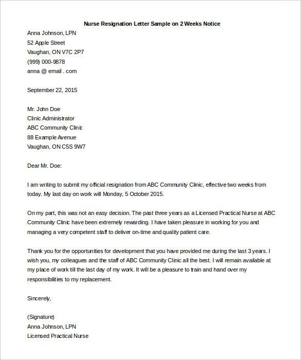 Example Of Resignation Letter Two Weeks Notice Image Inspirations  Within Two Week Notice Template Word Pertaining To Two Week Notice Template Word