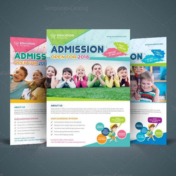 Excellent School Flyer Design Template 11 - Template Catalog Regarding School Brochure Design Templates