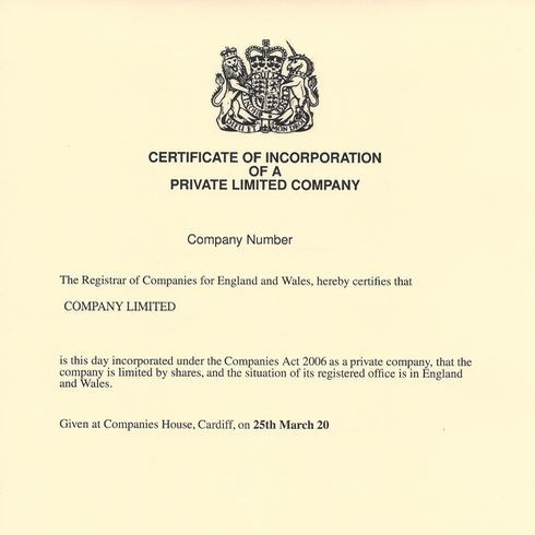 Expedite Certificate of Incorporation Certified by Companies House Throughout Share Certificate Template Companies House For Share Certificate Template Companies House