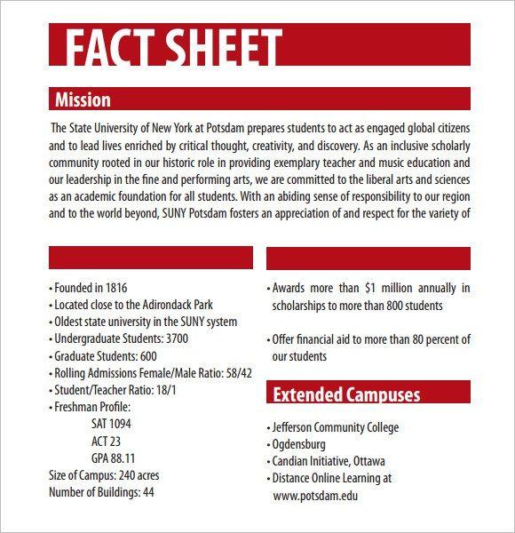 Fact Sheet Template - Resume Samples Regarding Fact Sheet Template Word With Regard To Fact Sheet Template Word