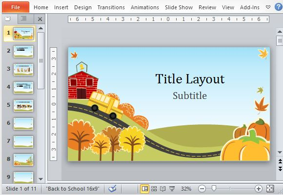 Fall Fun PowerPoint Template Within Fun Powerpoint Templates Free Download With Regard To Fun Powerpoint Templates Free Download