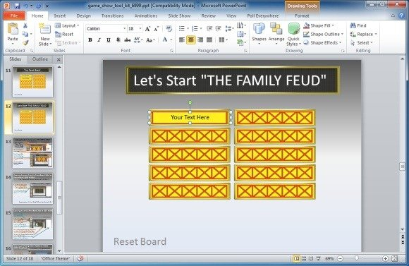 Family Feud PowerPoint Template Throughout Quiz Show Template Powerpoint In Quiz Show Template Powerpoint
