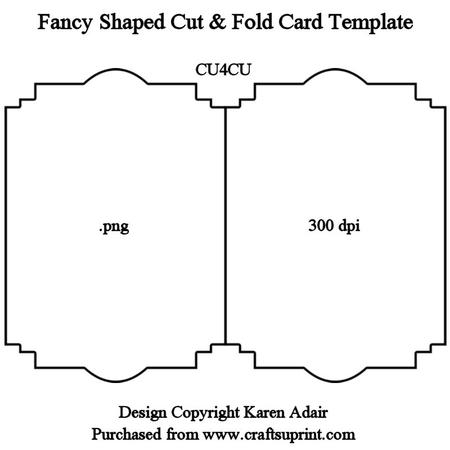 Fancy Shaped Cut & Fold Card Template Intended For Fold Out Card Template Pertaining To Fold Out Card Template
