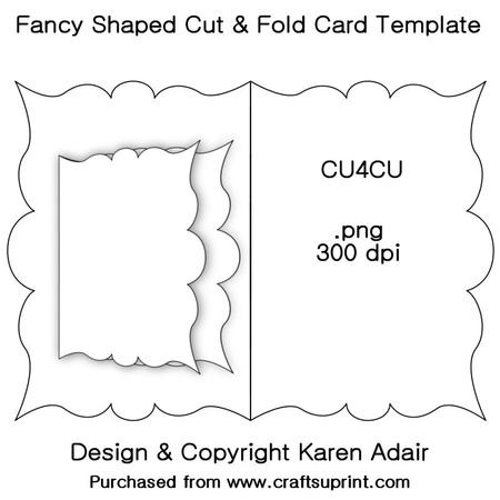 Fancy Shaped Cut & Fold Card Template Within Fold Out Card Template Throughout Fold Out Card Template