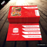 Fast Food Restaurant Business Card - Dope Downloads With Regard To Dope Card Template