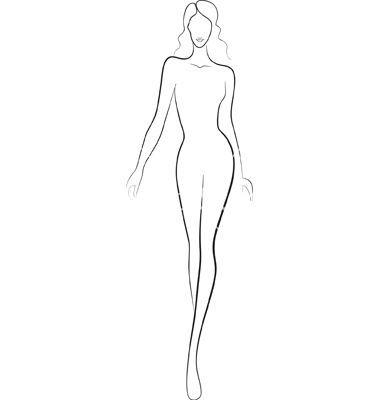 Female Body Sketch For Fashion Design  Chelss Chapman Regarding Blank Model Sketch Template Inside Blank Model Sketch Template