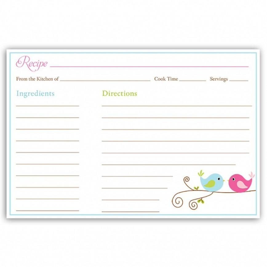 Fillable Recipe Card Template ~ Addictionary With Regard To Fillable Recipe Card Template Throughout Fillable Recipe Card Template