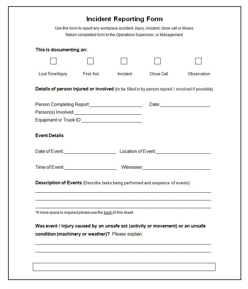 First Aid Report Form Template - The Y Guide Intended For First Aid Incident Report Form Template With Regard To First Aid Incident Report Form Template