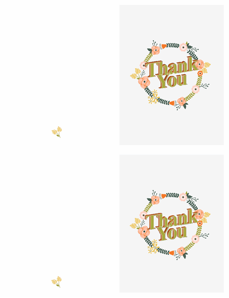 Floral thank you card With Regard To Powerpoint Thank You Card Template Within Powerpoint Thank You Card Template