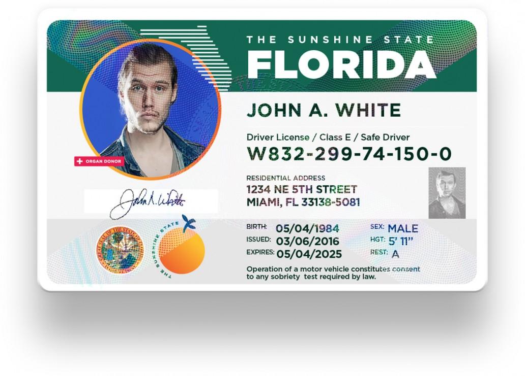 Florida Drivers License Templates - multifilesap With Florida Id Card Template With Florida Id Card Template
