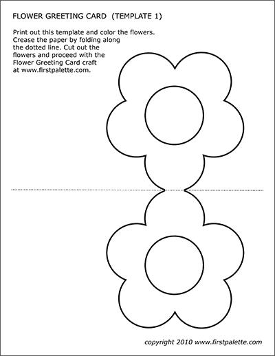 Flower Greeting Card Templates  Free Printable Templates  Regarding Fold Out Card Template Within Fold Out Card Template