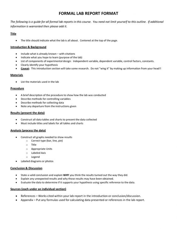 Formal lab report  Best Website For Homework Help Services Throughout Lab Report Template Chemistry With Lab Report Template Chemistry