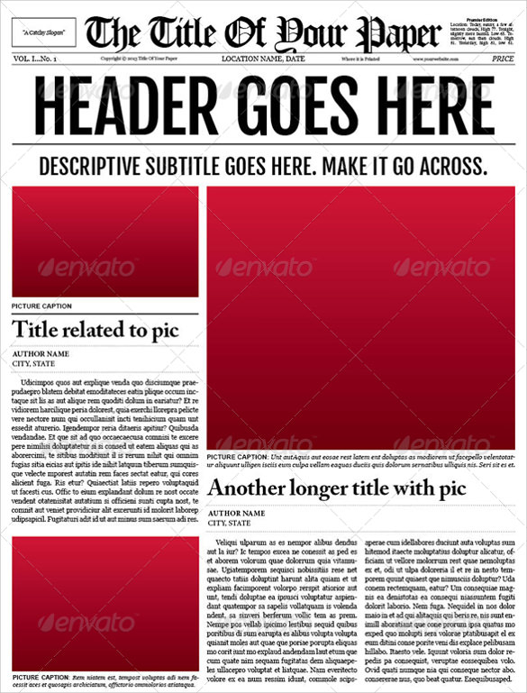 FREE 11+ Amazing Newspaper Templates in PDF  PPT  MS Word  PSD Pertaining To Blank Newspaper Template For Word Intended For Blank Newspaper Template For Word