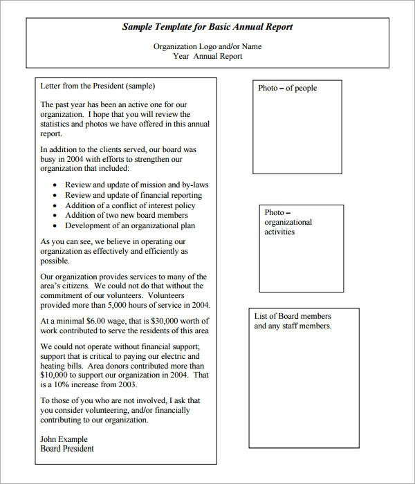FREE 11+ Annual Report Templates in MS Word  PDF  Apple Pages  Throughout Chairmans Annual Report Template For Chairmans Annual Report Template