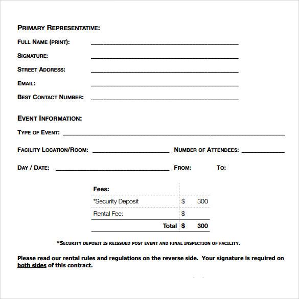 FREE 11+ Blank Rental Agreement Templates in PDF  MS Word In Blank Legal Document Template In Blank Legal Document Template