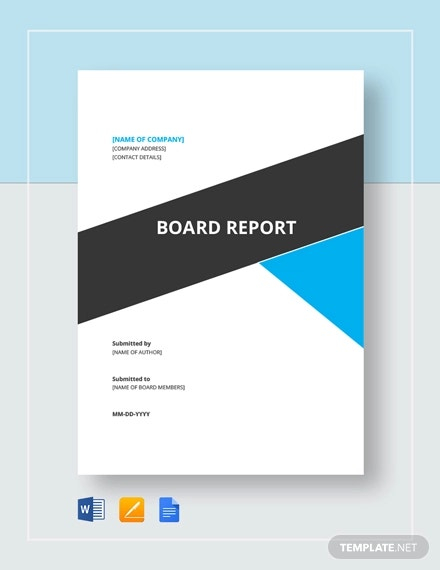 FREE 11+ Board Report Templates in PDF  MS Word  Apple Pages  For Microsoft Word Templates Reports For Microsoft Word Templates Reports