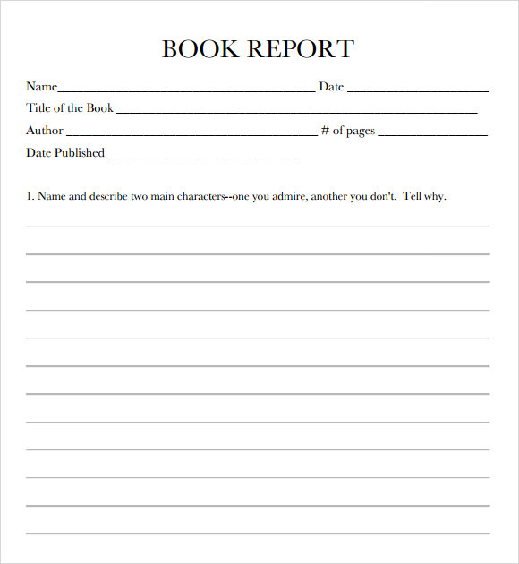 FREE 11+ Book Report Templates In Google Docs  MS Word  Apple  Regarding Book Report Template 3rd Grade
