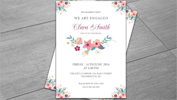 FREE 11+ Engagement Invitation Templates in PSD  AI  MS Word  In Engagement Invitation Card Template In Engagement Invitation Card Template
