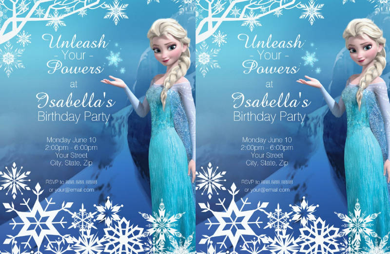 FREE 11+ Frozen Birthday Invitation Designs & Examples in Word  Within Frozen Birthday Card Template With Regard To Frozen Birthday Card Template