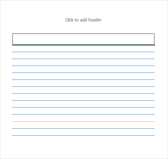 FREE 11+ Index Card Templates in PDF  Excel Intended For 4x6 Note Card Template Pertaining To 4x6 Note Card Template
