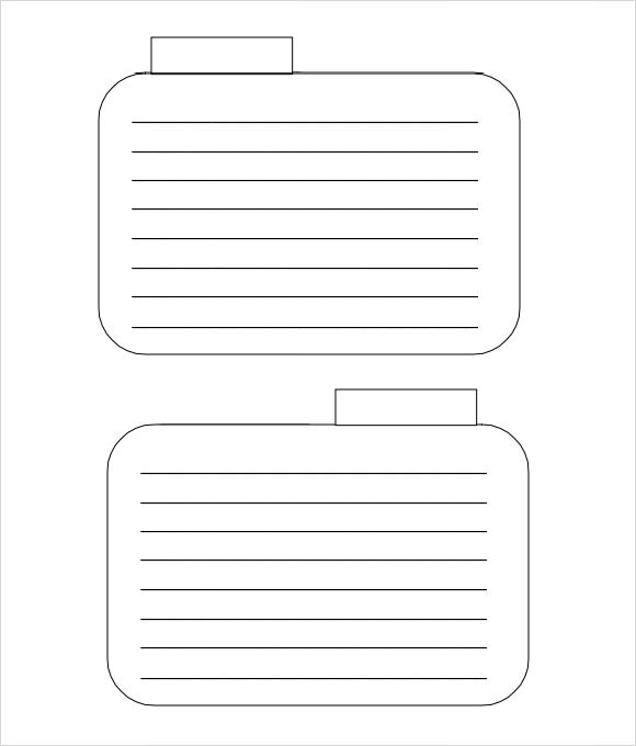 FREE 11+ Index Card Templates in PDF  Excel With Regard To Word Template For 3x5 Index Cards