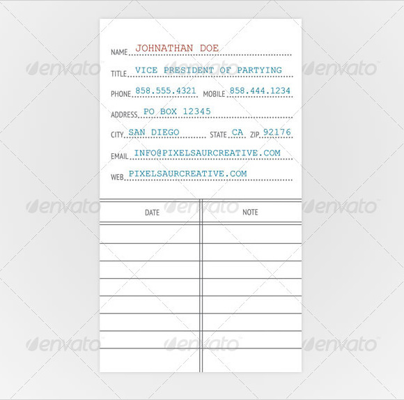 FREE 11+ Library Card Templates in PSD  EPS With Library Catalog Card Template Throughout Library Catalog Card Template