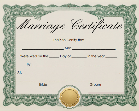FREE 11+ Marriage Certificate Templates In WORD  PSD Inside Certificate Of Marriage Template For Certificate Of Marriage Template