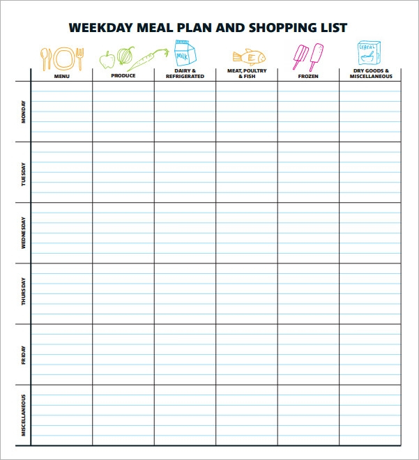 FREE 11+ Meal Planning Templates in PDF  Excel  MS Word Throughout Menu Planning Template Word Intended For Menu Planning Template Word