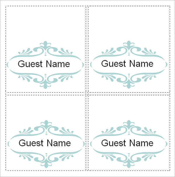FREE 11+ Place Card Templates in MS Word  PDF Regarding Place Card Template 6 Per Sheet With Regard To Place Card Template 6 Per Sheet