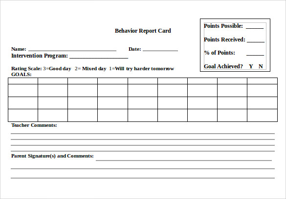 FREE 11+ Progress Report Card Templates in MS Word  PDF  Google  Pertaining To Report Card Format Template For Report Card Format Template
