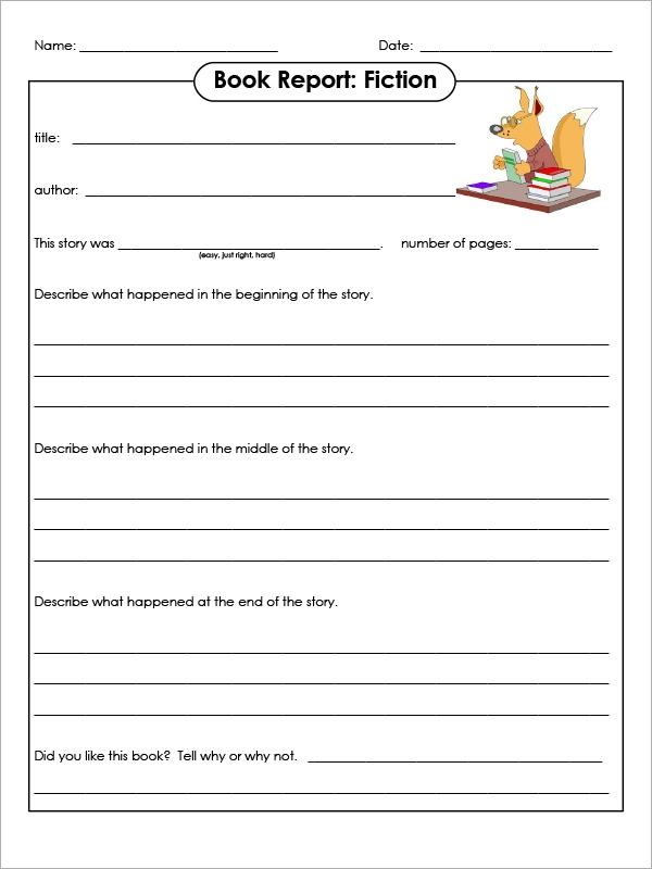 FREE 11+ Sample Book Report Templates in Google Docs  MS Word  Regarding Story Report Template Inside Story Report Template