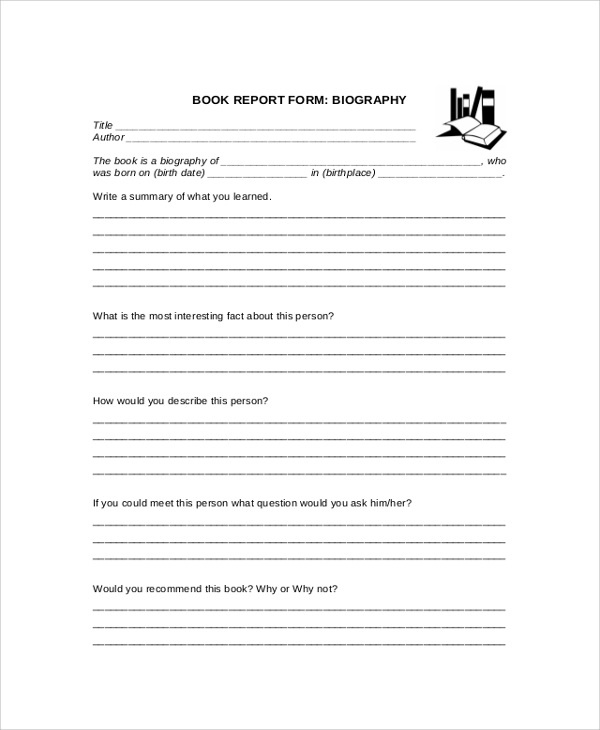 FREE 11+ Sample Book Reports in PDF  MS Word With Regard To Middle School Book Report Template Inside Middle School Book Report Template