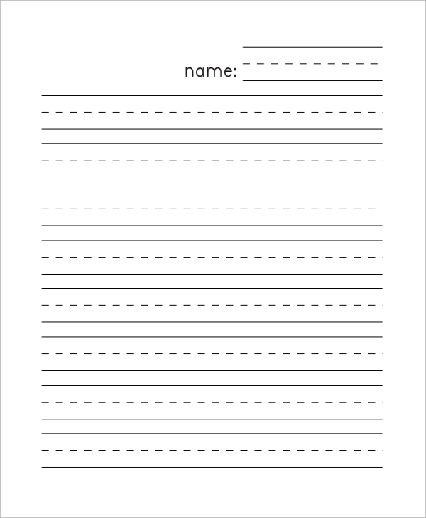 FREE 11+ Sample Lined Paper Templates in PDF  MS Word For Notebook Paper Template For Word Throughout Notebook Paper Template For Word