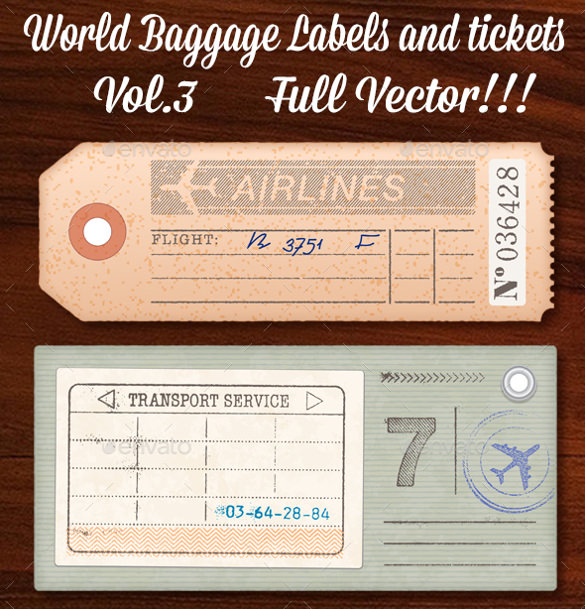 FREE 11+ Sample Luggage Tag in PDF  MS Word Pertaining To Luggage Tag Template Word In Luggage Tag Template Word