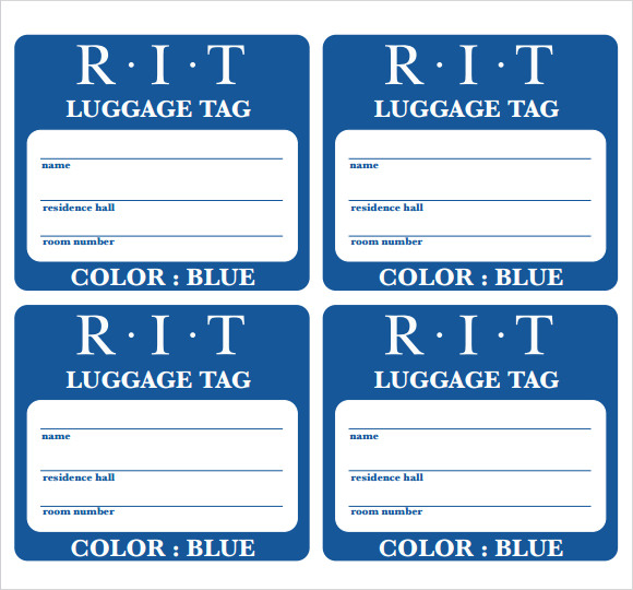 FREE 11+ Sample Luggage Tag Templates in PDF  PSD With Regard To Luggage Tag Template Word Pertaining To Luggage Tag Template Word
