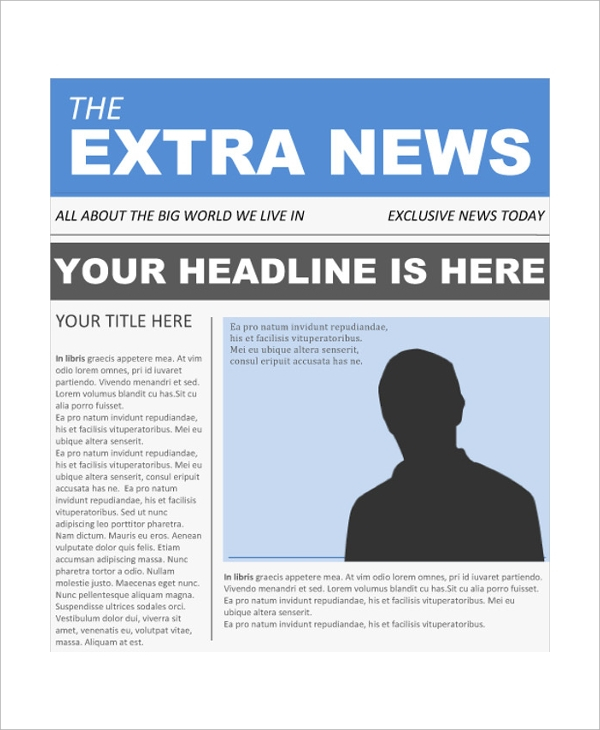 FREE 11+ Sample Newspaper Front Page in MS Word  PDF  PSD With Regard To Blank Newspaper Template For Word Regarding Blank Newspaper Template For Word
