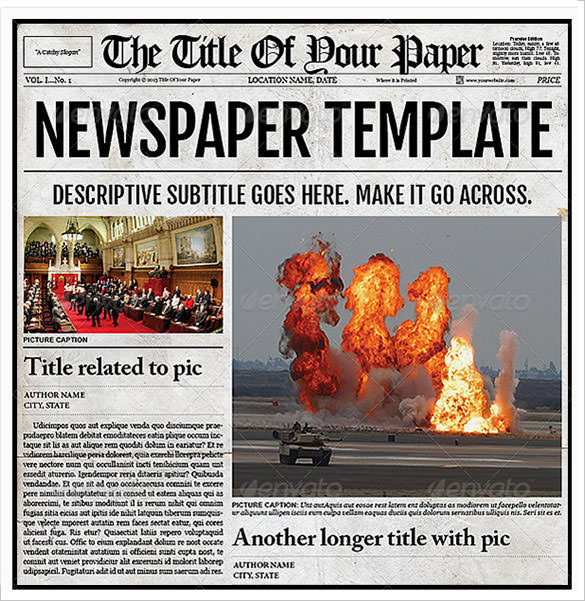 FREE 11+ Sample Old Newspaper Templates in PDF  PSD  MS Word In Old Newspaper Template Word Free For Old Newspaper Template Word Free