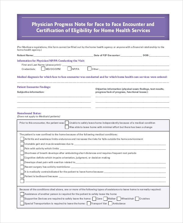 FREE 11+ Sample Progress Note Templates in PDF  MS Word With Regard To Nursing Home Physician Progress Note Template