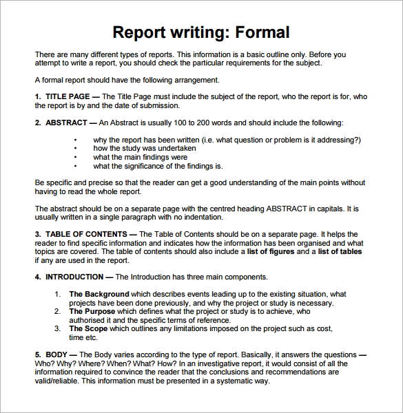 FREE 11+ Sample Report Writing Format Templates in PDF Regarding Good Report Templates In Good Report Templates
