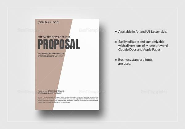 FREE 11+ Sample Software Development Proposal Templates in PDF  Intended For Software Project Proposal Template Word In Software Project Proposal Template Word