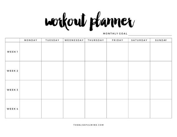 FREE 11+ Workout Planner Templates in PDF  MS Word Intended For Blank Workout Schedule Template Within Blank Workout Schedule Template