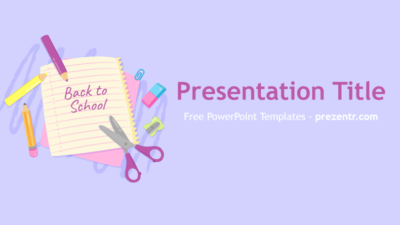 Free Back to School PowerPoint Template - Prezentr PowerPoint  Throughout Back To School Powerpoint Template Inside Back To School Powerpoint Template