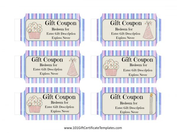 Free Birthday Coupon Template - Customize Online & Print at Home With Coupon Book Template Word With Regard To Coupon Book Template Word