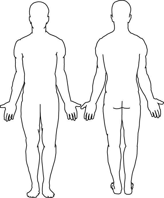 Free Blank Body, Download Free Clip Art, Free Clip Art on Clipart  Regarding Blank Body Map Template Throughout Blank Body Map Template