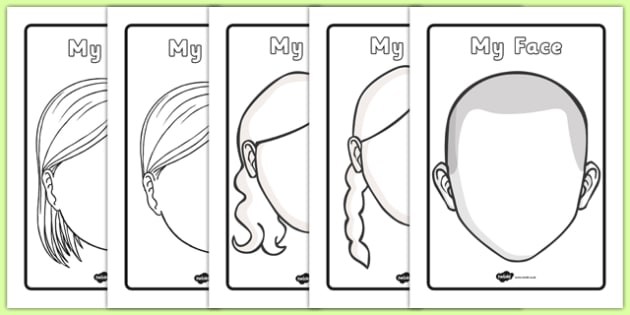 FREE! - Blank Face Templates with Face Features Throughout Blank Face Template Preschool Intended For Blank Face Template Preschool
