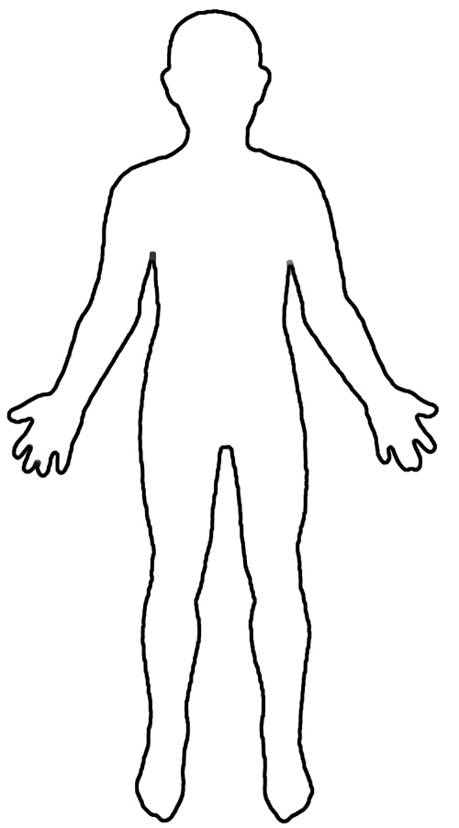 Free Blank Person Outline, Download Free Clip Art, Free Clip Art  In Blank Body Map Template Intended For Blank Body Map Template